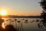 Západ slunce kdesi na Azurovém pobřeží Sunset somewhere on the Cote d'Azur